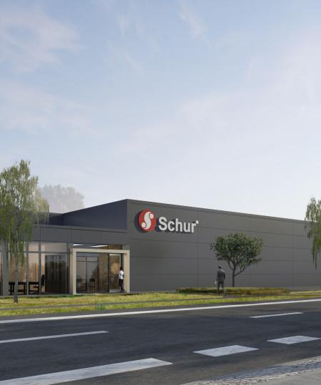 A/S Nortvig - Ny fabrikshal til Schur