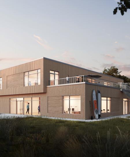 A/S Nortvig - Ny skolebygning til Hou Maritime Idrætsefterskole